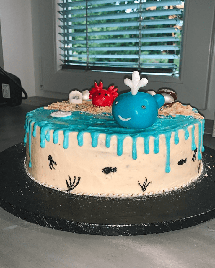 Admirable Whale Cake Design