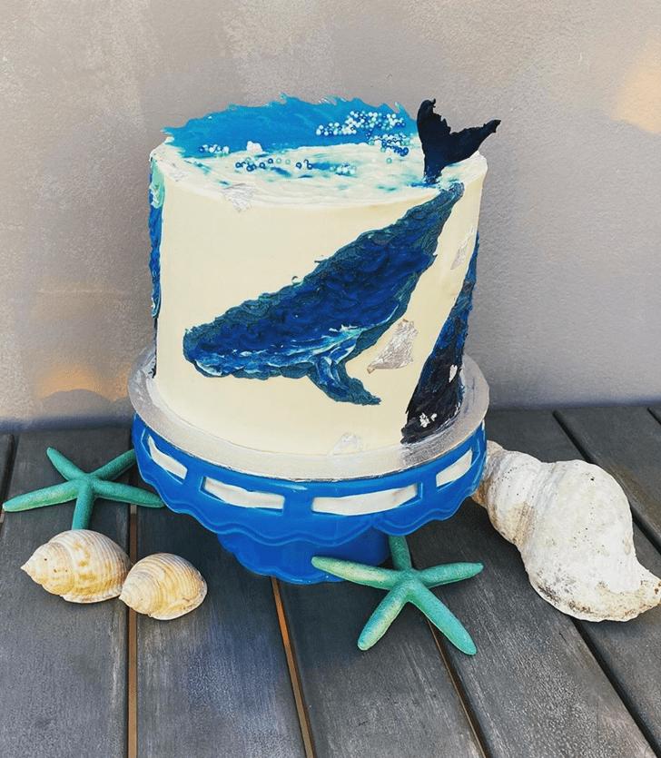 Angelic Whale Cake