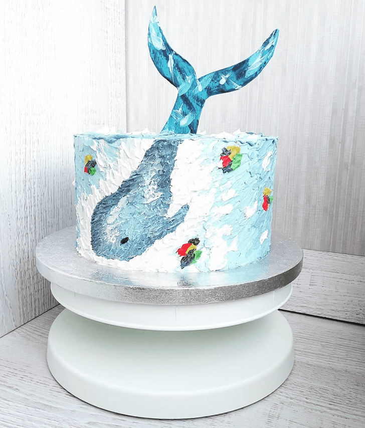 Appealing Whale Cake