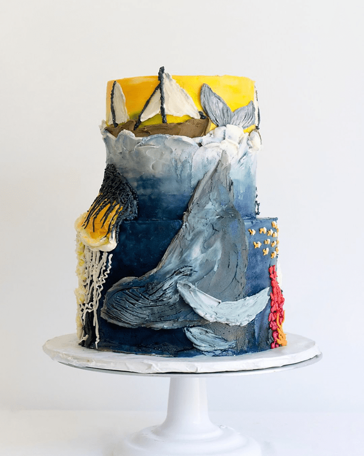 Beauteous Whale Cake