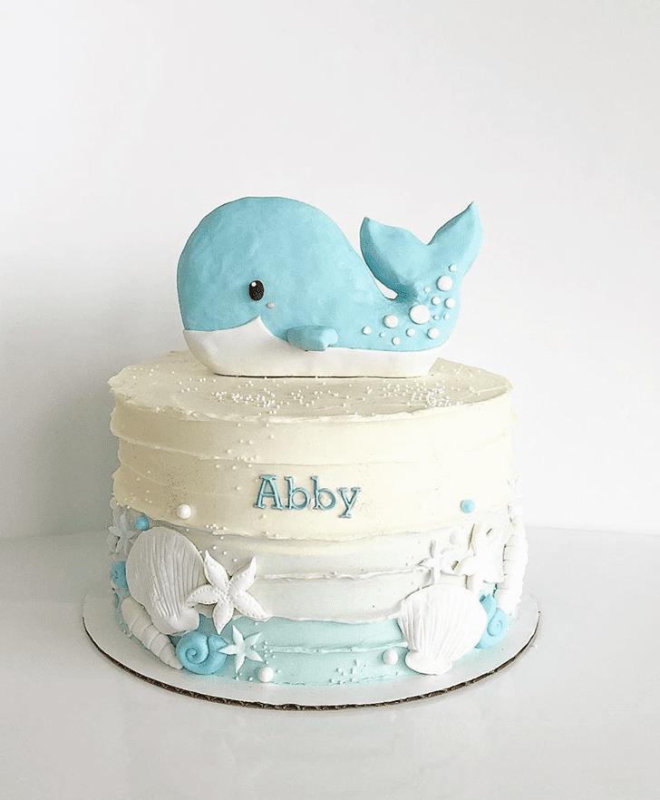 Cute Whale Cake