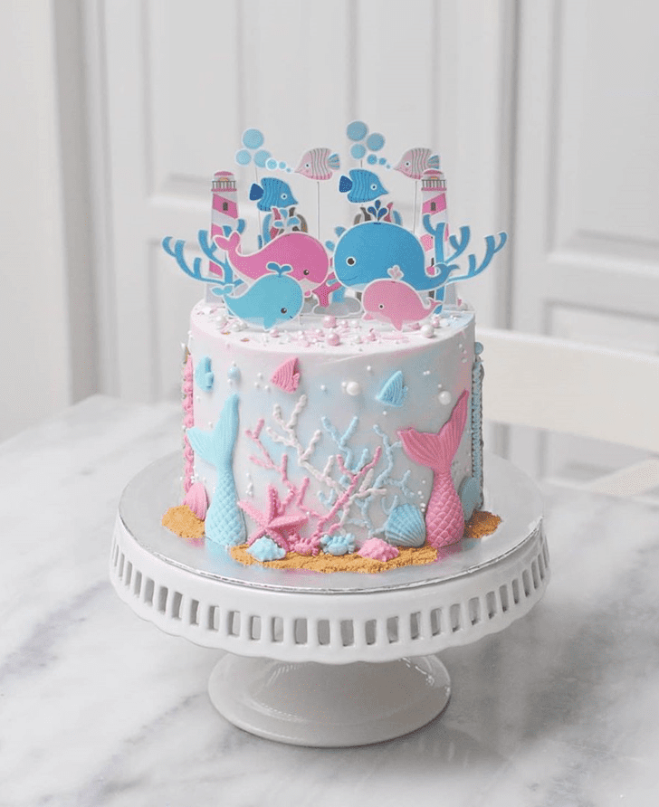 Dazzling Whale Cake