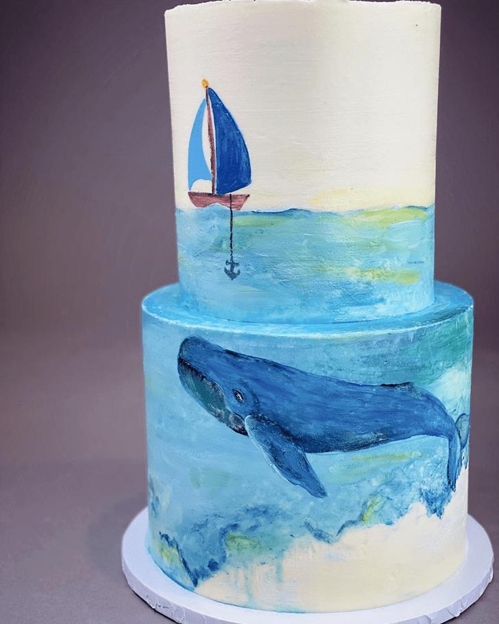 Elegant Whale Cake