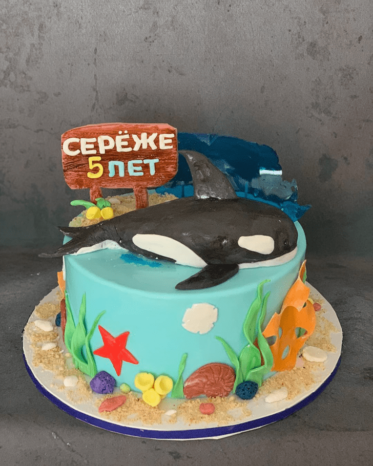 Enthralling Whale Cake