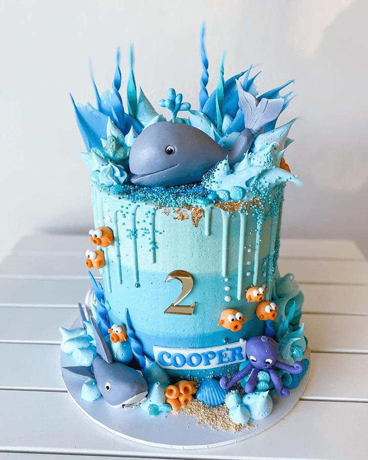 Gorgeous Whale Cake
