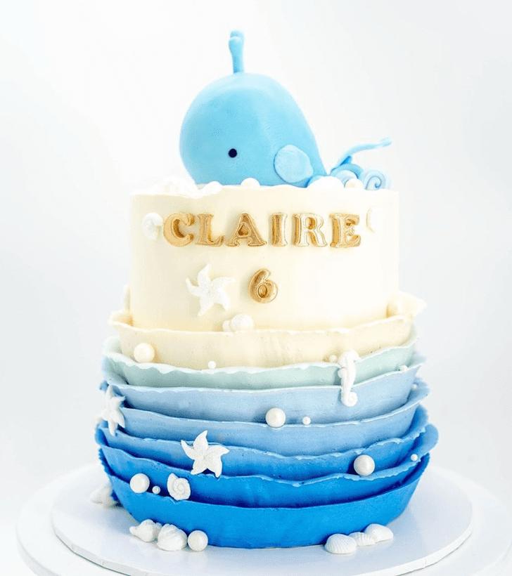Graceful Whale Cake