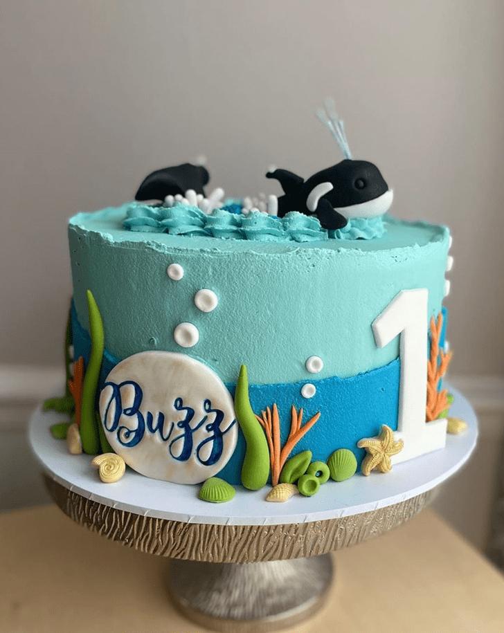 Pleasing Whale Cake