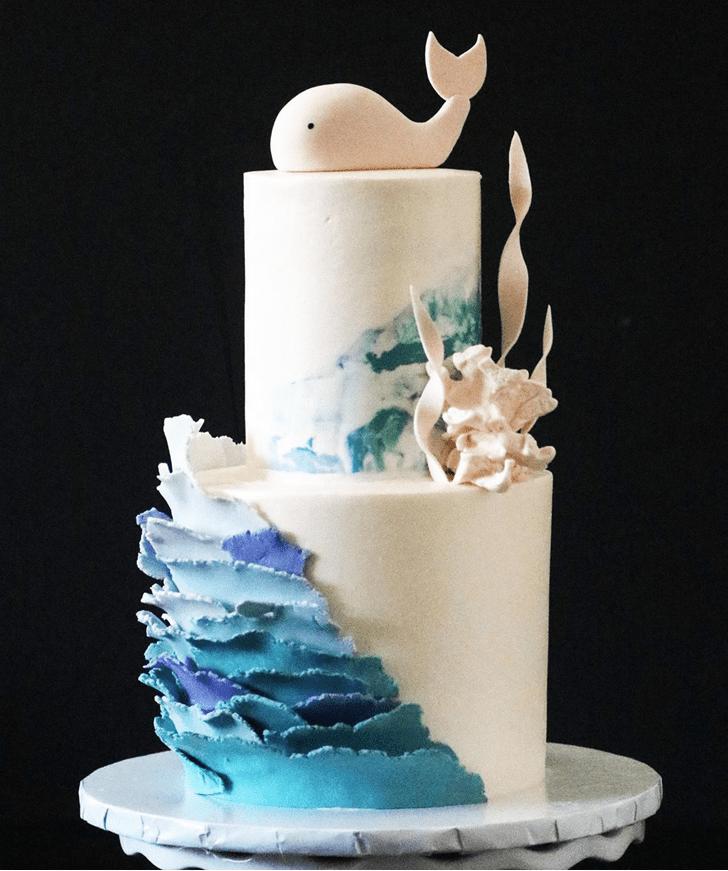 Wonderful Whale Cake Design