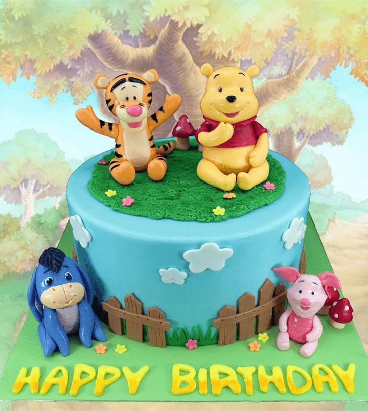 Elegant Winnie the Pooh Cake