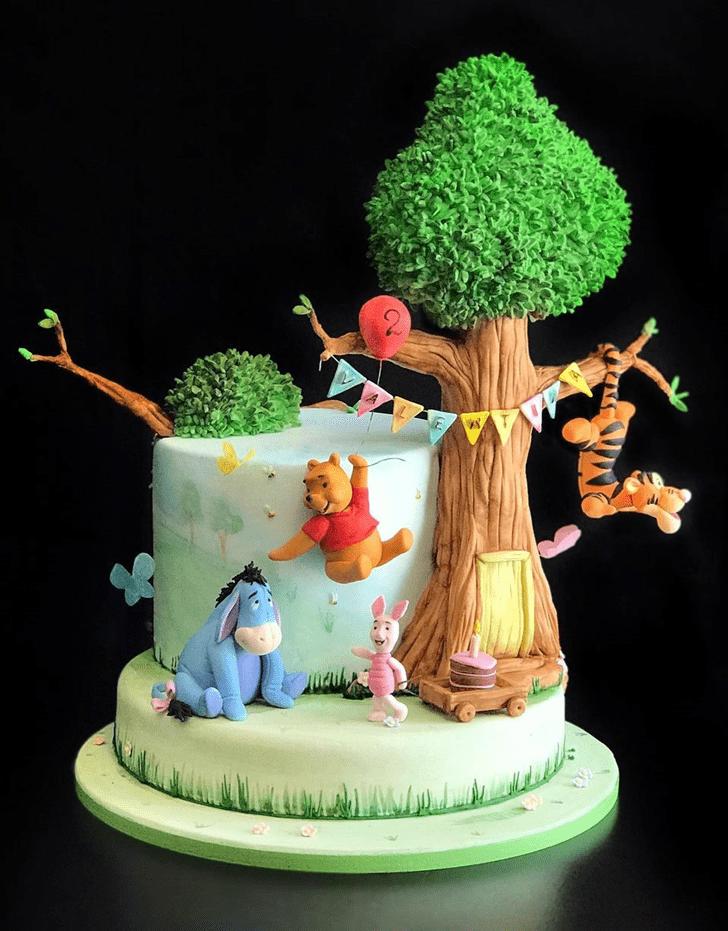 Graceful Winnie the Pooh Cake