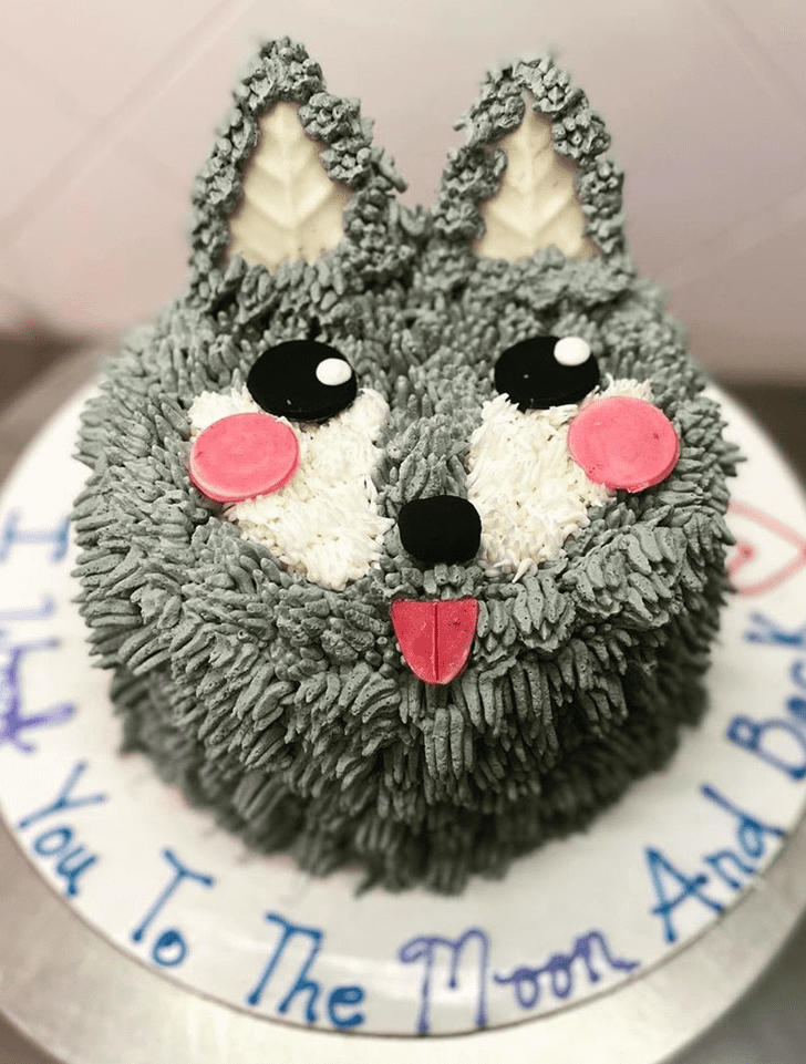 Adorable Wolf Cake