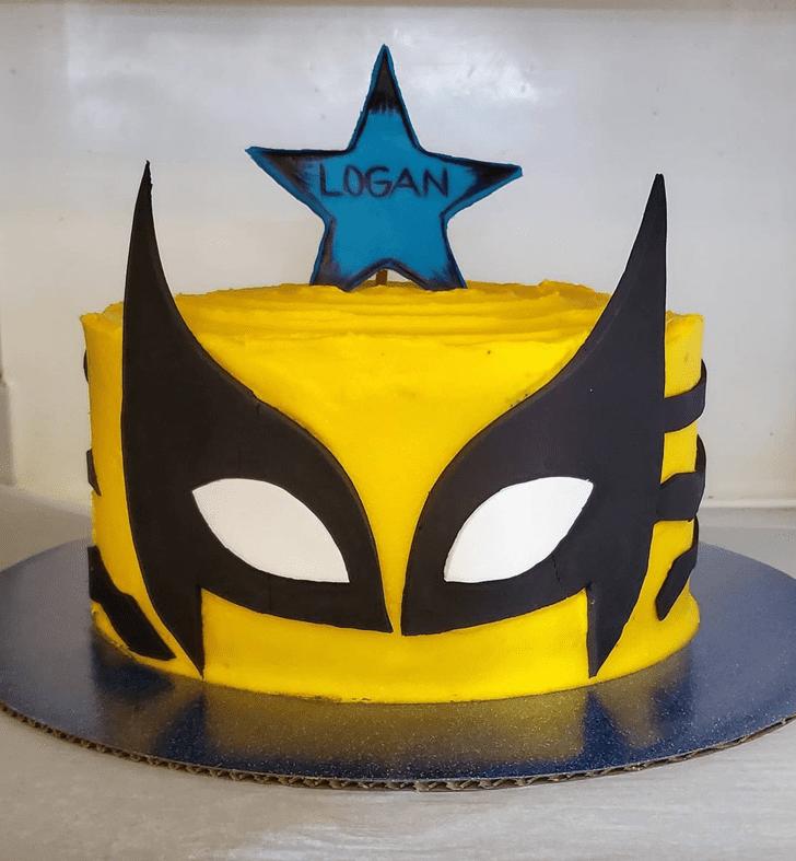 Adorable Wolverine Cake