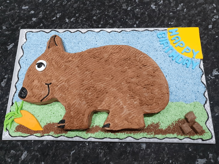 Admirable Wombat Cake Design