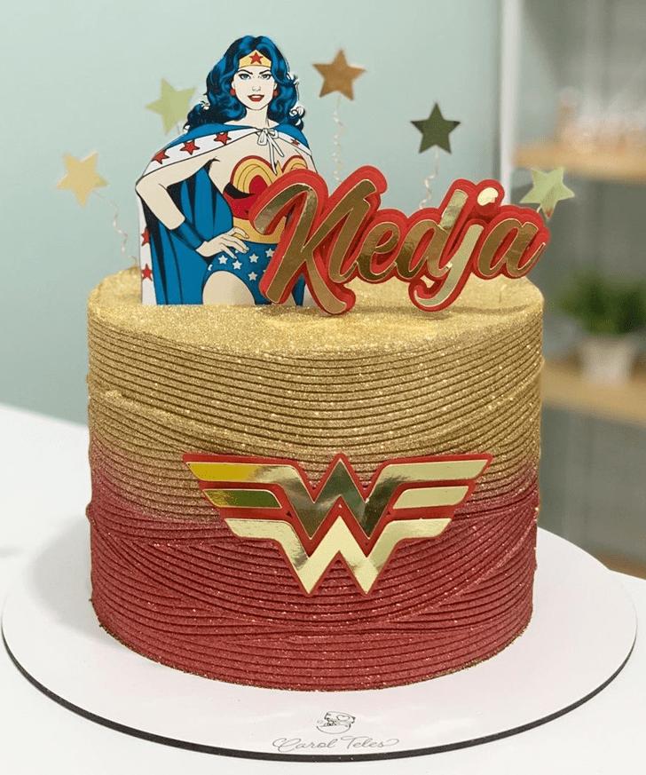 Angelic Wonder Woman Cake