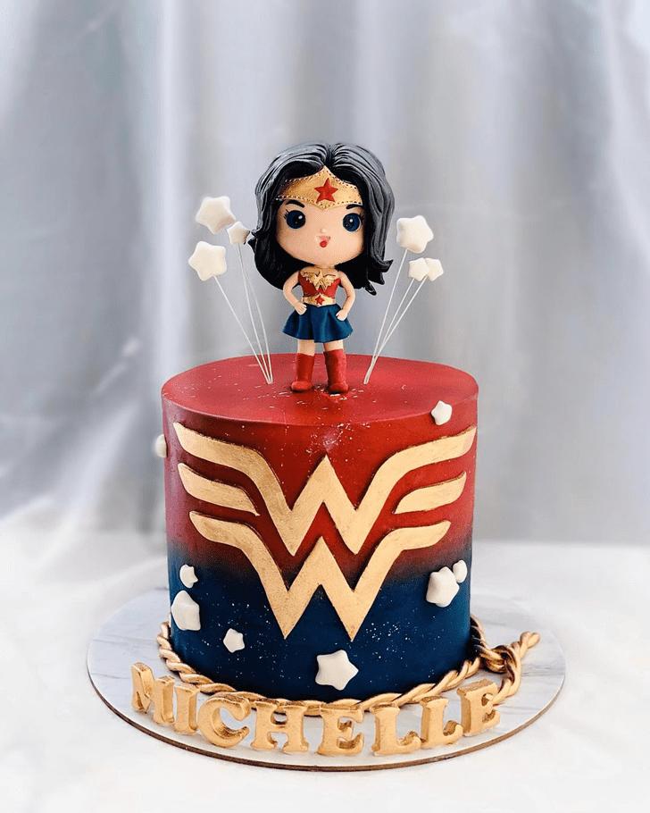 Appealing Wonder Woman Cake