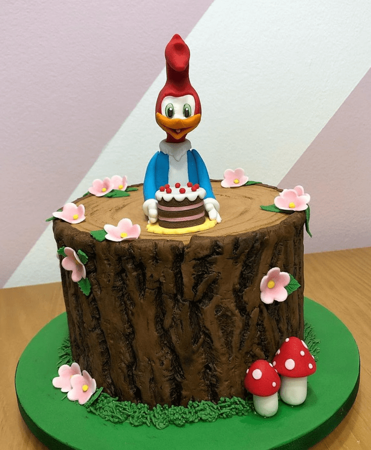 Angelic Woodpecker Cake