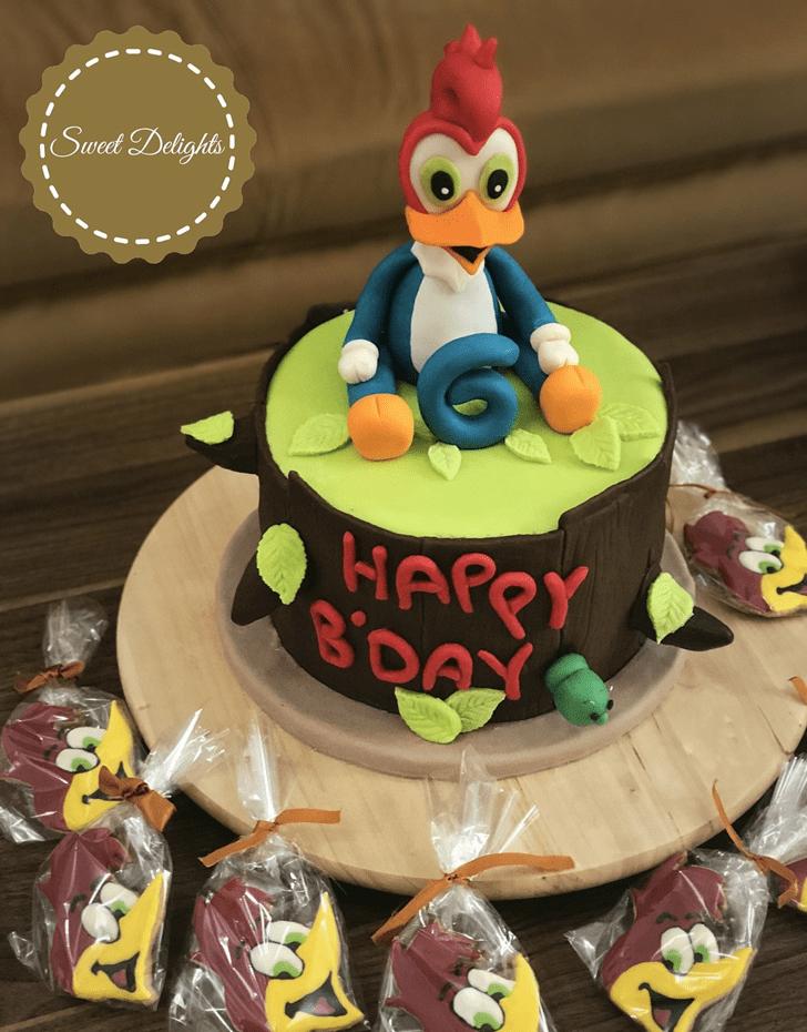 Charming Woodpecker Cake