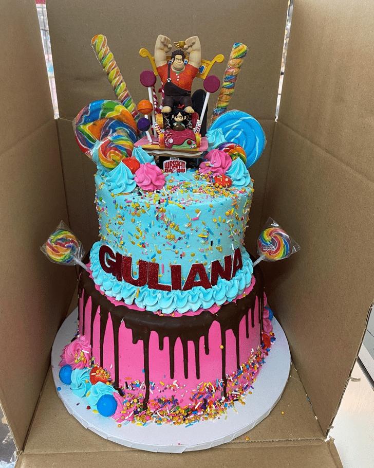 Cute Wreck-It Ralph Cake