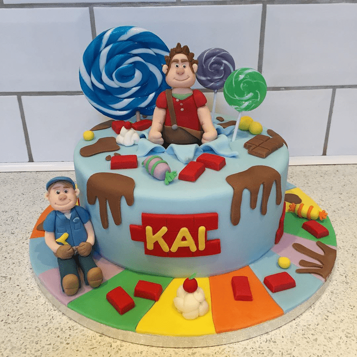 Shapely Wreck-It Ralph Cake
