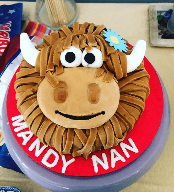 Brown Yak Cake with Red Base