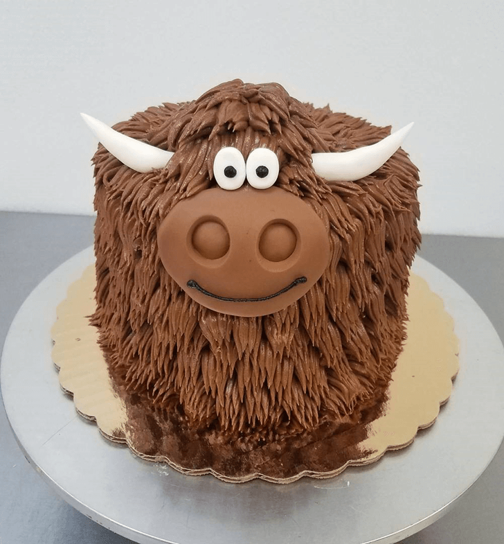 Brown Fluffy Yak Cake