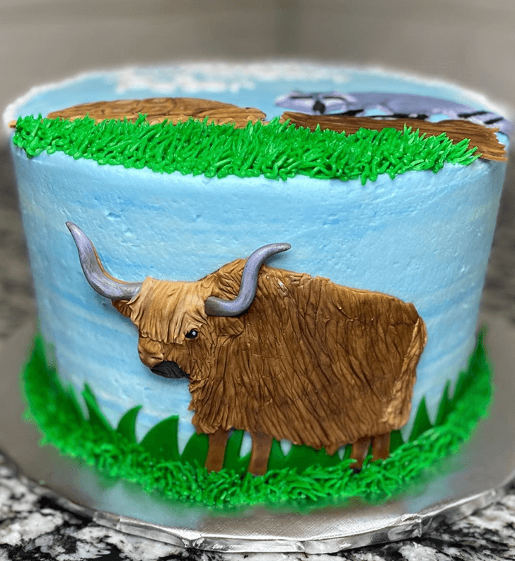 Yak Cake with Blue Base