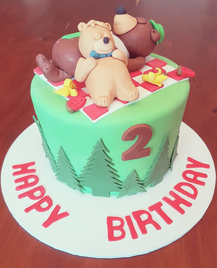Angelic Yogi Bear Cake