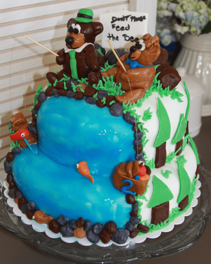 Captivating Yogi Bear Cake