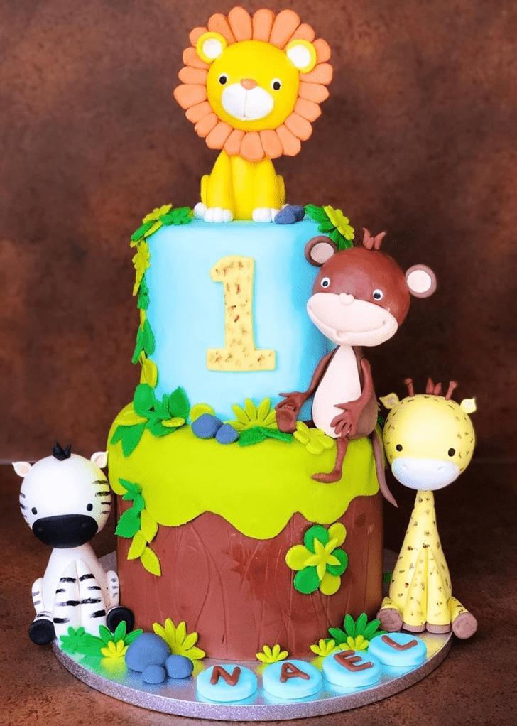 Angelic Zebra Cake