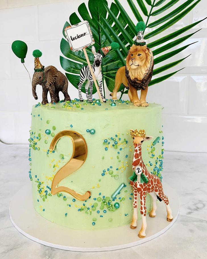 Classy Zebra Cake