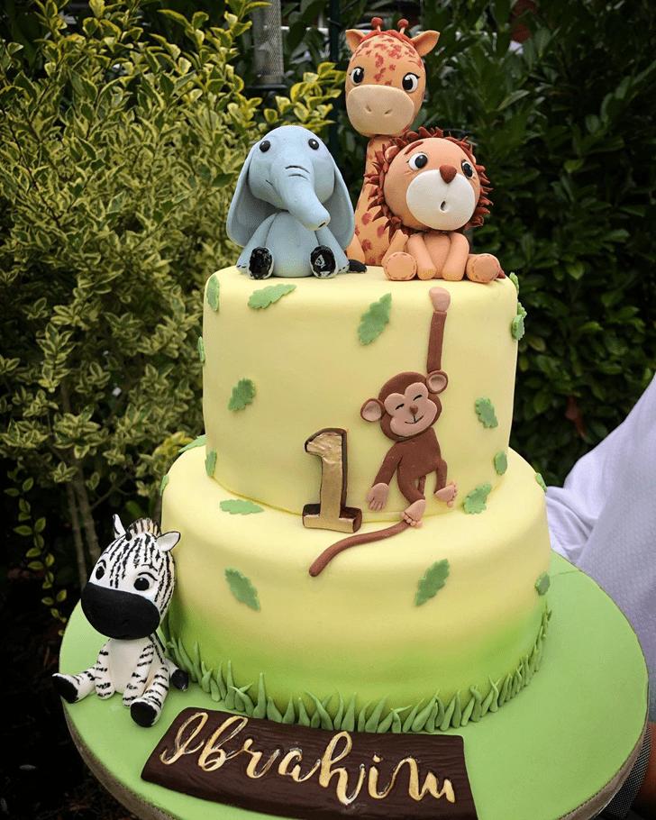 Delightful Zebra Cake