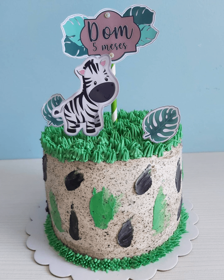 Elegant Zebra Cake