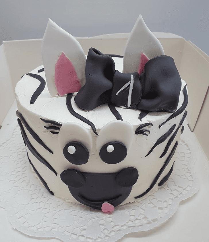 Fascinating Zebra Cake