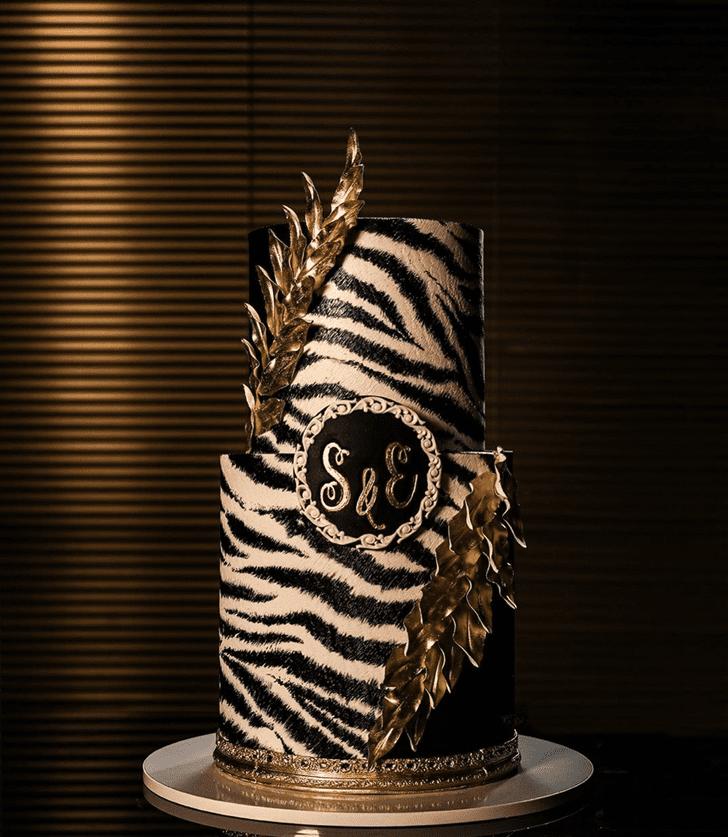 Graceful Zebra Cake