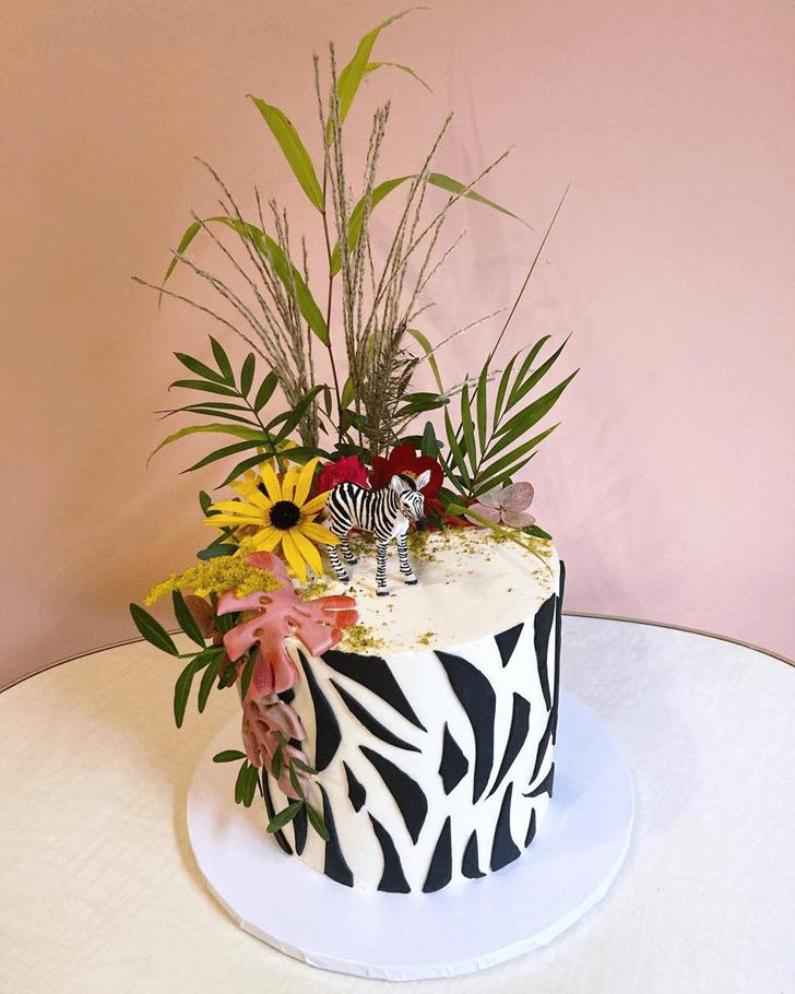 Inviting Zebra Cake