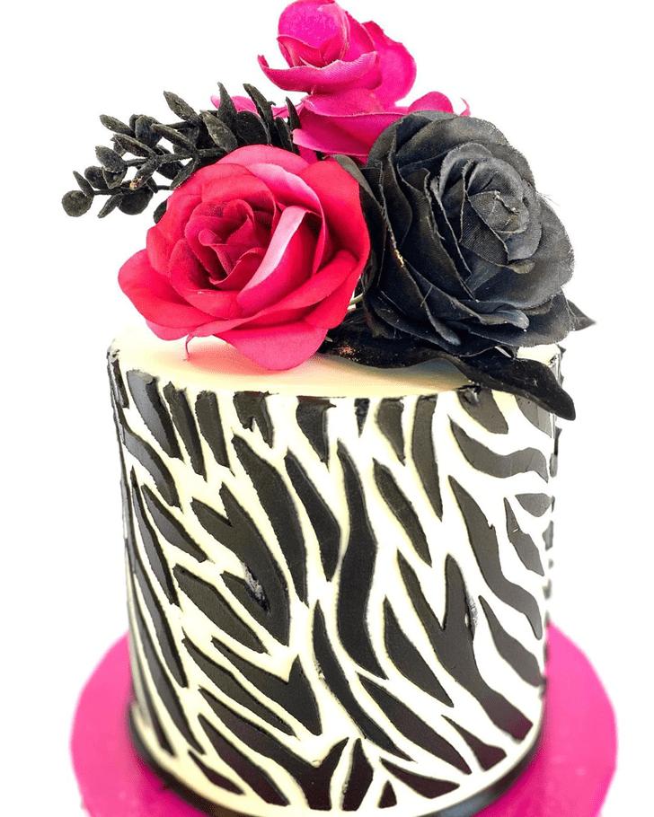 Shapely Zebra Cake
