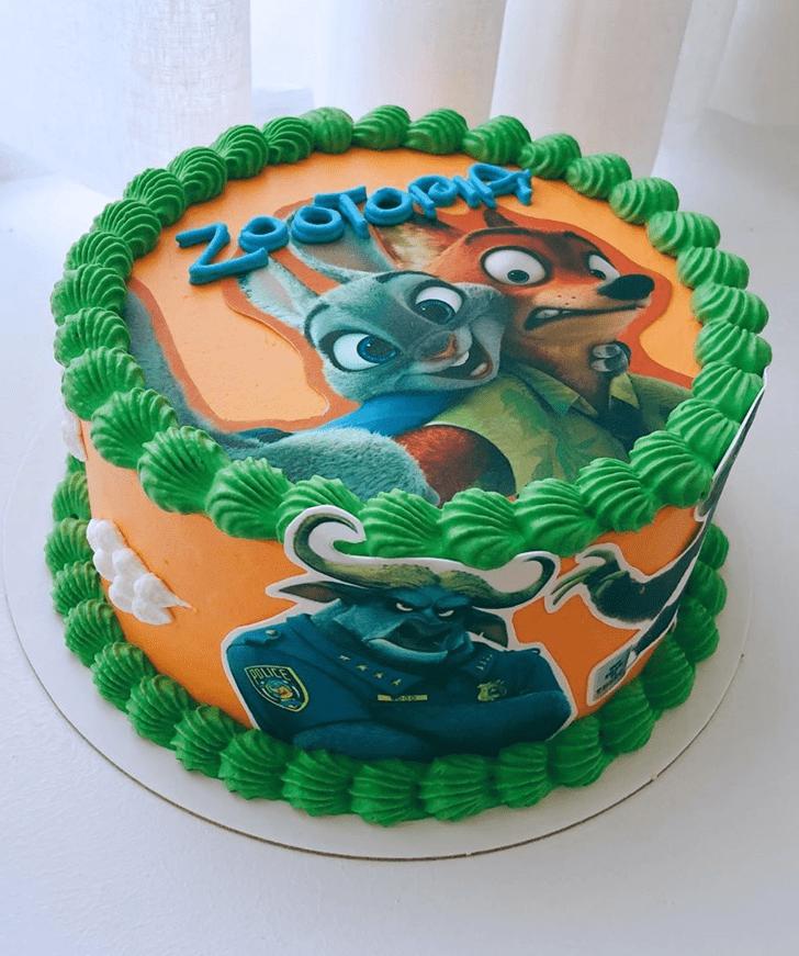 Adorable Zootopia Cake