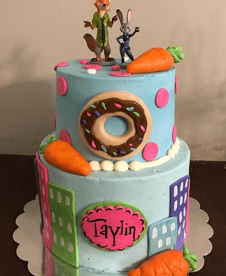 Captivating Zootopia Cake