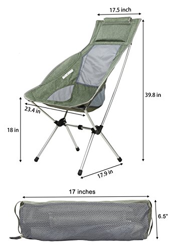 festival folding chair kids sleeper marchway lightweight high back camping with headrest