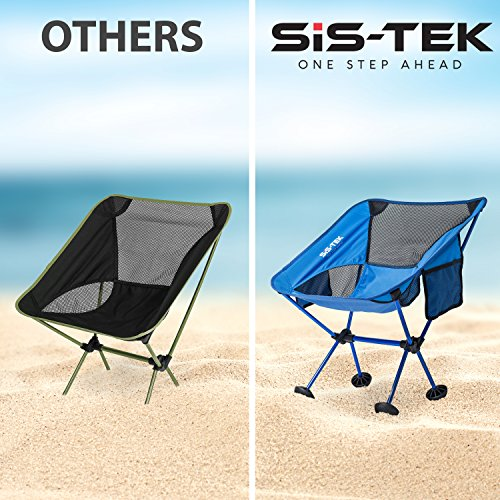 heavy duty folding chairs outdoor diy chair covers for weddings portable ultralight compact camping by sis