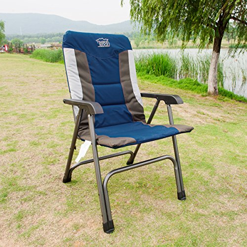 padded camping chair feminine office timber ridge folding portable with carry bag