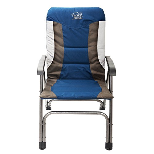 Timber Ridge Camping Folding Chair High Back Portable With