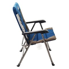 Folding Chair Portable High Directors Timber Ridge Camping With Carry Bag Padded