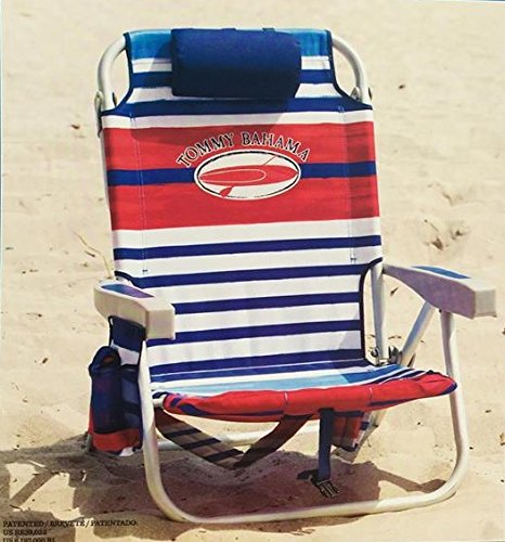 tommy bahama backpack cooler chair blue camping chairs coleman 2 with storage pouch and towel