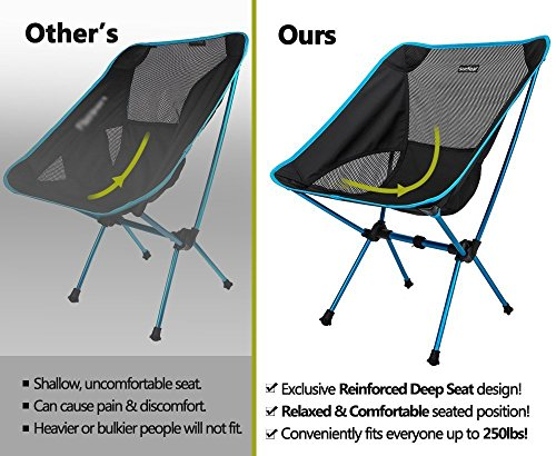 lightweight folding chairs hiking outdoor bar height table and swivel compact camping backpack portable