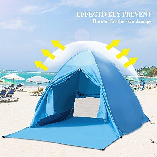 Wilwolfer Pop Up Tent Beach Sun Shelter Portable Uv