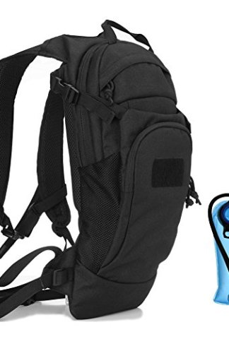 REEBOW GEAR Tactical Hydration Pack Backpack,Outdoor Military Army Airsoft  Running Cycling Bike Hydration Packs Backpacks with 2 5L Water Bladder