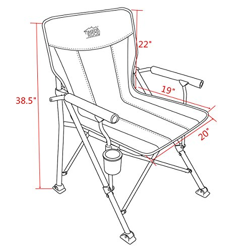 folding quad chair ivory leather dining chairs with oak legs timber ridge camping outdoor sports heavy duty