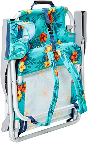 tommy bahama backpack cooler chair blue outdoor fabric replacement with storage pouch and towel bar