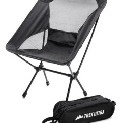 Folding Sports Chair Dallas Cowboys Chairs Trekultra Portable Compact Lightweight Camp With Bag